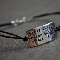 Sterling Quote Bracelet  - Customize with your own quote, saying, verse