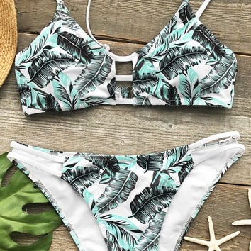 Cupshe  Gentle Breeze Print Bikini Set
