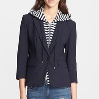 Women's Veronica Beard Schoolboy Jacket with Removable Hooded Dickey