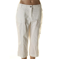 Karen Scott Womens Twill Cargo Capri Pants