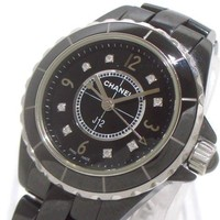 Auth CHANEL J12 H2569 Black Woman's Wrist Watch OH68857