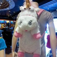 "Universal Despicable Me 3D Ride Agnes Fluffy Unicorn Plush Backpack Extra Large 26"" Size NEW"