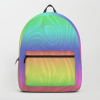 Groovy Pastel Rainbow Backpack by gx9designs