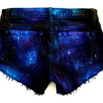 Made to Order Galaxy Hand Painted Custom Cut by GirlMeetsClothes