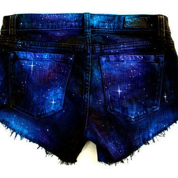 Made to Order Galaxy Hand Painted Custom Cut by GirlMeetsClothes on Etsy