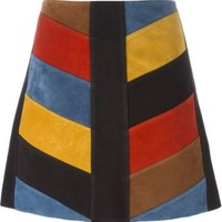Mih Jeans Chevron Patchwork Skirt - The Shop At Bluebird - Farfetch.com