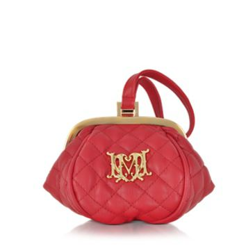 Moschino Designer Handbags Love Moschino Quilted Eco Leather Mini Clutch