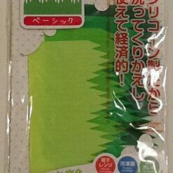 reusable silicon grass bento lunch box separater, set of 4