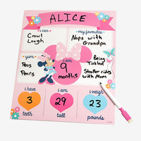 Disney Minnie Mouse Milestone Dry Erase Board