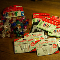 Vintage Christmas Light Replacememt Bulbs/Bulb Covers