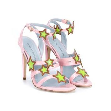 CHIARA FERRAGNI | Star Patch Patent Leather Sandals | Womenswear | Browns Fashion