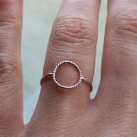 Karma Ring, Eternity Ring, Infinity Ring - Stacking Ring - custom made to any size