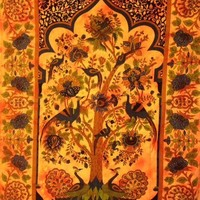 Tree of Life Peacock Tapestry  - Mellow Mood