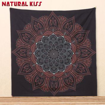 New Black Polyester Bohemian Tapestry Wall Hanging Cloth Bedspread Dorm Cover Home Room Decorative Rug Picnic Mat Beach Towel