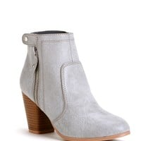Sale-gray Stone Booties