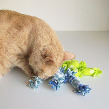 Pick 5 Cat Toys Soft Catnip Toys Handmade Cat Toys Modern Prints All Natural Catnip