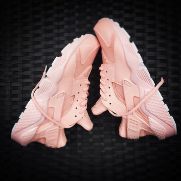Girls Baby Pink Nike Huarache customs