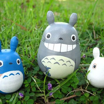 Set of 3 TOTORO DOLL Studio Ghibli mini figure model toy 2 7b3a421d40