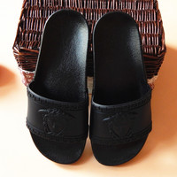 Unisex Black Versace Slippers