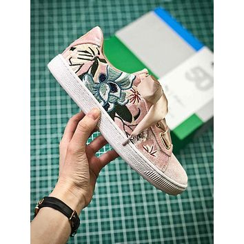 Puma Suede Classic Basket Embroidery Pink Sneakers