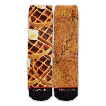 Function - Chicken And Waffles Fashion Socks
