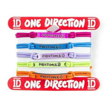 One Direction Directioner Cord Bracelets Set of 5  | Claire's