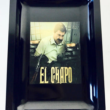 Colorful Metal Rolling Tray - El Chapo