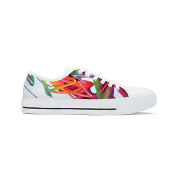 Gravity Wave by Brian Scott - Low Top Canvas Shoes