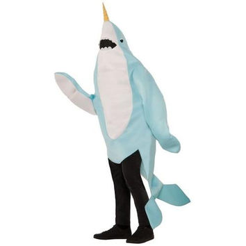 Plush Narwhal Adult Mascot Costume