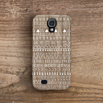 Samsung galaxy s4 case wood print galaxy 4 case aztec galaxy note 2 case galaxy s3 case tribal samsung galaxy s2 indian native plastic /c64
