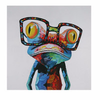 Frameless Picture Oil Painting 60*60cm Air Brushing PGP20 Unique Gift Home Decor Frog Art Picture For Living Room