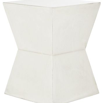 Lotem Accent Table White Birch