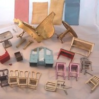 1/24th scale Miniature Dollhouse Tootsie Toy Furniture Lot