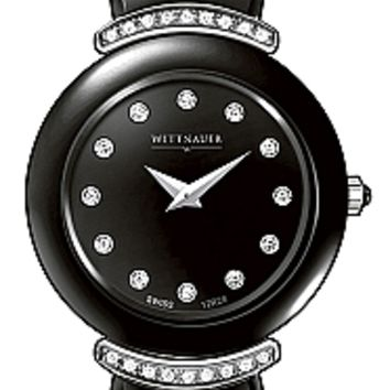 Wittnauer Ceramic Collection Women's Sapphire Black Ceramic Diamond Watch 12R28