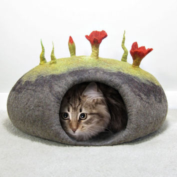 How to make Felted Cat Caves eBook tutorial pdf
