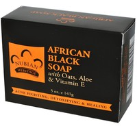Nubian Heritage African Soap with Shea Butter Oats and Aloe Deep Cleansing, 5 oz., Black (pack of 3)