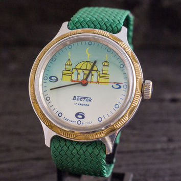 Vintage Boctok Wostok Muslim Arabic watch, vintage mens watch