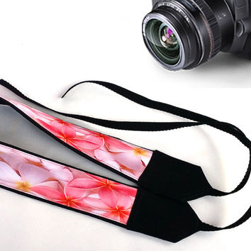 Gift For Her. Flowers  Camera Strap. Women Gifts. Beautiful Camera Strap. Pink Camera Strap. Accessories