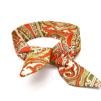 Cute Fall Bun Wrap Multicolor Top Knot Tie Wired Hair Accessory for Buns or Pony Tails Bun Wire Wrap Orange Green Cream