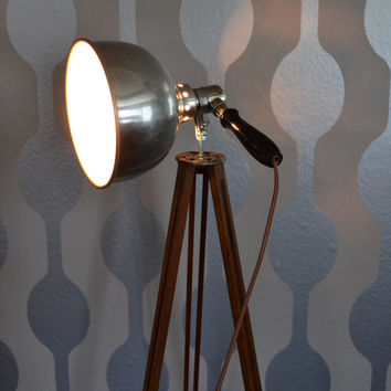 Antique Eastman Kodak Wooden Tripod with Adjusto-Ray Therapeutic Healing Lamp Light by S.W. Farber Brooklyn NY