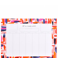 Brushstrokes Weekly Desk Planner