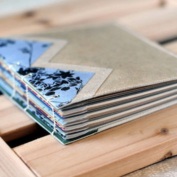 Quilt Sheet - Soft Covered Mini Coptic Stitch Blank Journal / Diary / Sketchbook / Notebook / Writer's Gift