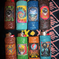 Grateful Dead Lighter Cases 2 for 7 by CosmicalKreationz on Etsy