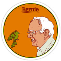 'Birdie Sanders' Sticker by sophiapetrillo