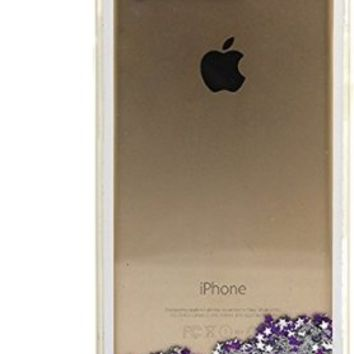 "LifeBox Glow Apple iPhone 6/6s Case 4.7"" Dual Layer Hybrid Bumper Double Protection with Liquid Infused Glow in the Dark Fluoroscent with Glitter and Stars - Retail Package - Diamond"
