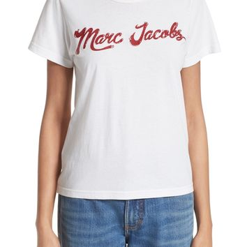 MARC JACOBS Lacquered Logo Tee | Nordstrom