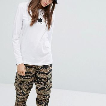 Stussy Oversized Long Sleeve T-Shirt With 8 Ball Print at asos.com