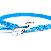 Whale Blue Friendship Bracelet