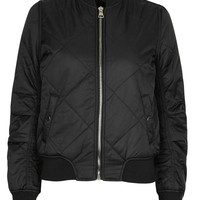 Quilted MA1 Bomber Jacket - Topshop