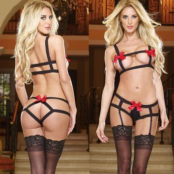 CREYCT9 Sexy On Sale Hot Deal Cute Plus Size See Through Set Socks Butterfly Exotic Lingerie [8864119879]